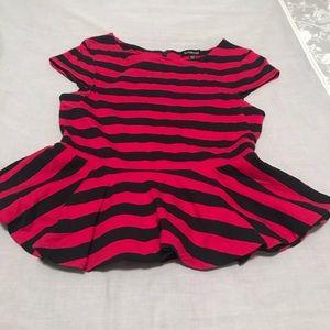 Bebe Red & Black stripe